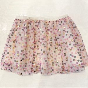 Epic Threads Pink Gold Confetti Tulle Skirt NEW 6
